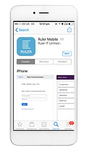 Ruler mobile access for students teacher and parents